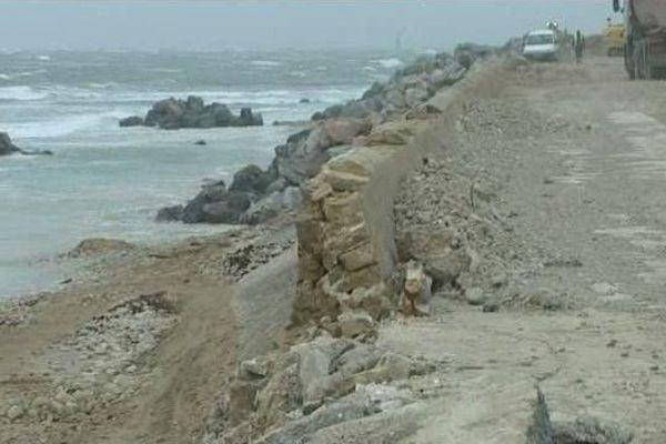 L'ancienne digue s'est brisée sous les flots lors de la tempête Xynthia