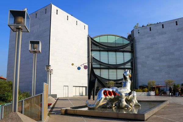 Le musée d'art moderne et d'art contemporain de Nice.