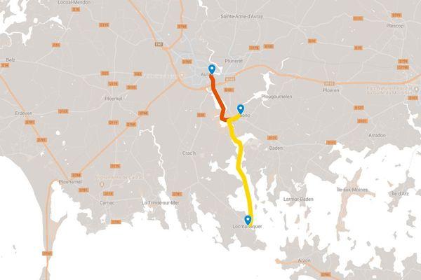 Deux propositions de parcours autour du port du Bono