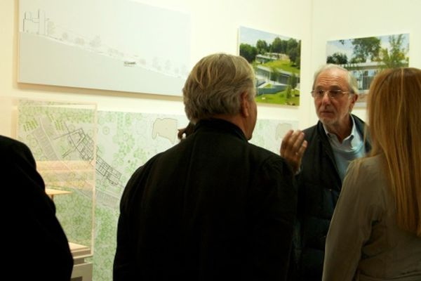 Renzo Piano en discussion avec Jean-Jacques Virot et Milly Piano