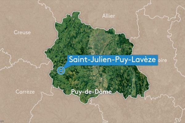 L'accident, fatal à un jeune conducteur de 18 ans, s'est produit à hauteur de Saint-Julien-Puy-Lavèze