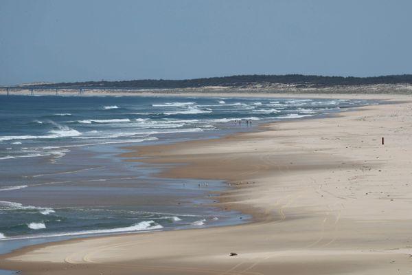 Une plage de Biscarrosse dans les Landes sur la côte atlantique. (Illustration)