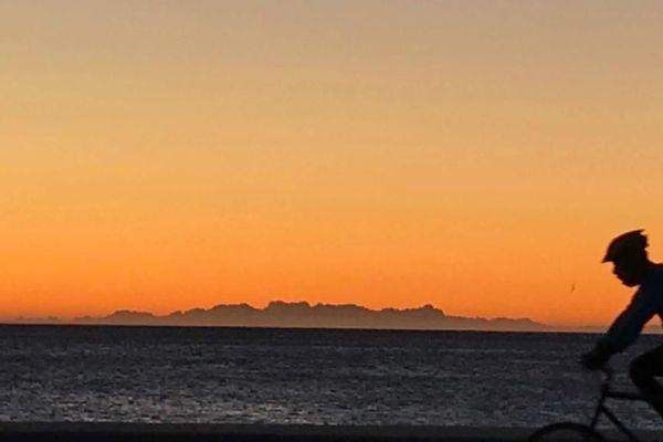 La Corse vue ce matin depuis Cagnes-sur-Mer
