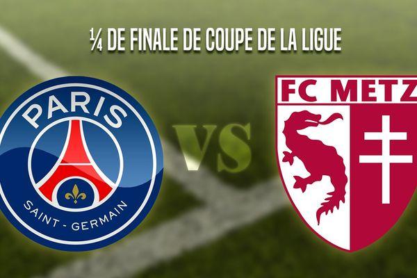 Le PSG rencontre le FC Metz.
