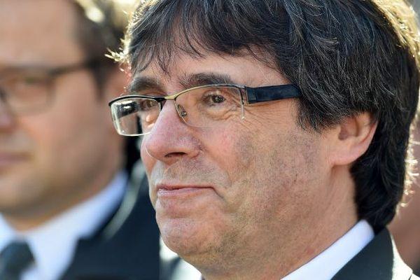 Puigdemont à sa sortie de prison, en Allemagne le 6 avril 2018.