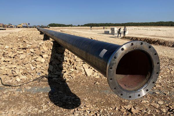 Vers 17h, les manifestants quittaient progressivement le site en construction de la bassine de Mauzé-sur-le-Mignon (79).