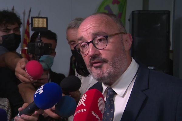 Jean-Laurent Félizia a l'annonce des résultats du premier tour des élections régionales en Paca.