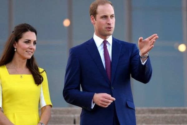 Le prince William et son épouse lors de leur visite officielle en Australie le 16 avril