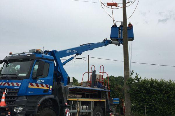 Tous les dégâts de la tempête Bella signalés à Enedis sont actuellement réparés en Bretagne