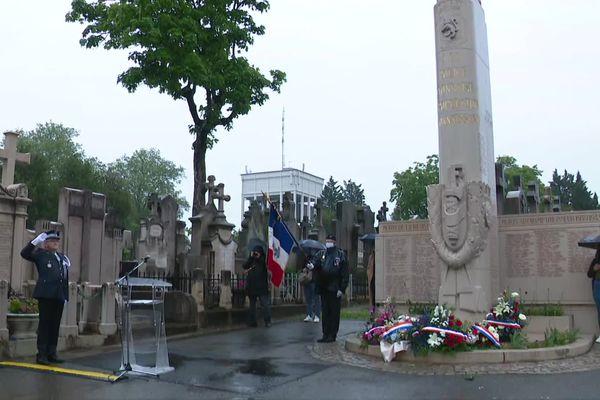 Lyon rend hommage aux policiers morts pour la France, décédés dans l'exercice de leurs fonctions. 10/5/21