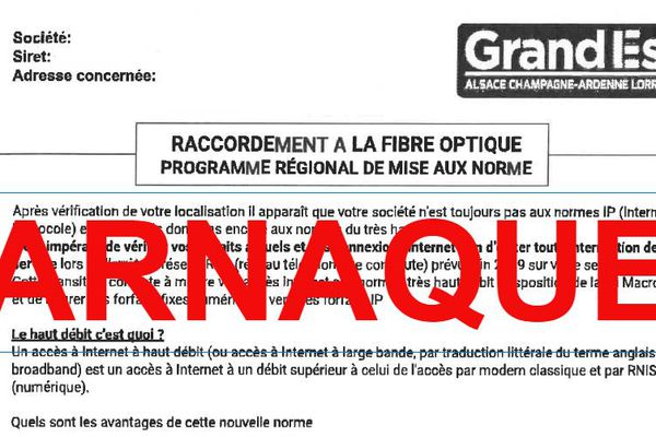 Des sociétés se faisant passer pour la région Grand Est envoient des fax frauduleux pour proposer des services payants
