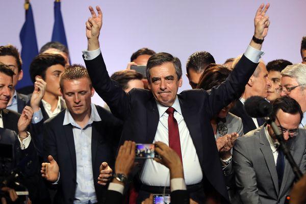 François Fillon, à Nice, le 17 avril 2017