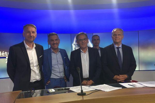 Le débat du second tour à la Métropole de Lyon réunit les 3 finalistes : David Kimelfeld, Bruno Bernard et François-Noël Buffet.