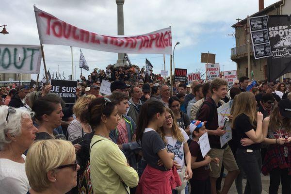 Grosse mobilisation pour la défense de l'accès à la plage de la Vieille-Nouvelle à Port-la nouvelle, dans l'Aude - 16 avril 2016