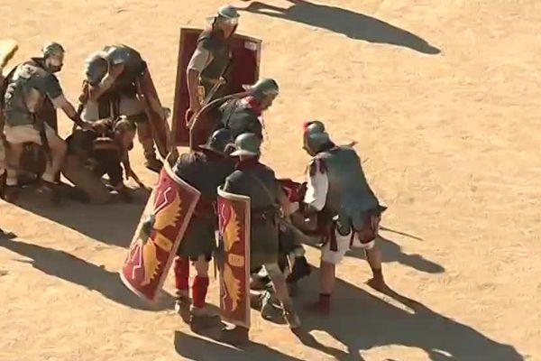 Plus de 500 figurants participent cette année à la reconstitution des jeux romains à Nîmes - 29 avril 2017