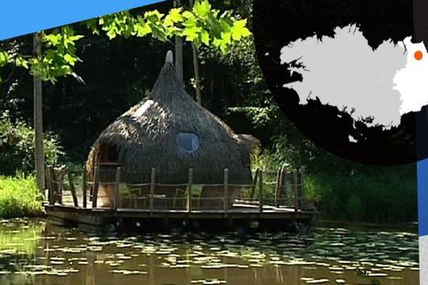 De drôles de cabanes où dormir, au Domaine des Ormes