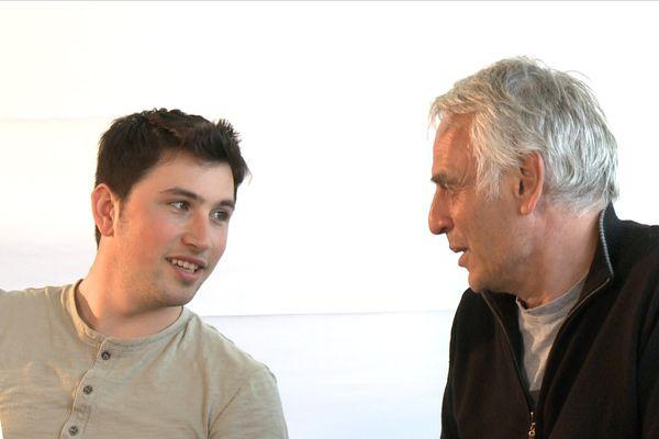 Lacha et Frédéric, préventologue, au cours de l'atelier documentaire