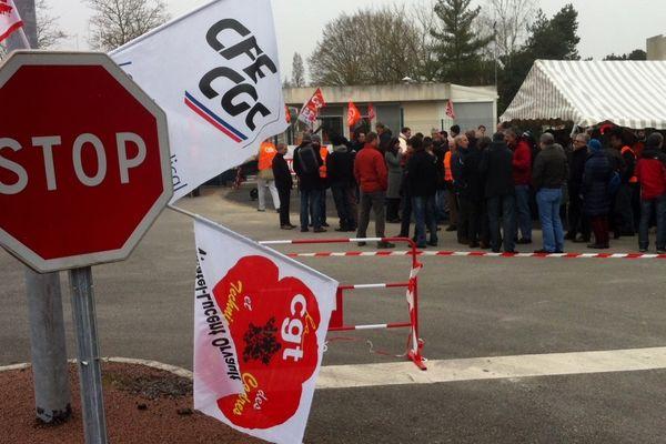 Les salariés d'Alcatel-Lucent en grève ce mercredi à Orvault (44)