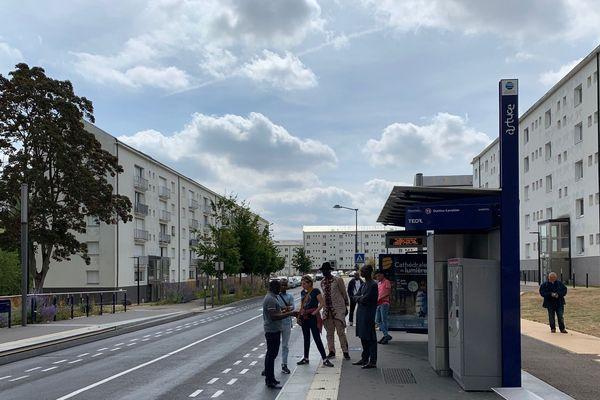 Mamoudou Barry est tombé sur le trottoir après avoir reçu un coup le vendredi 19 juillet 2019 à Canteleu.