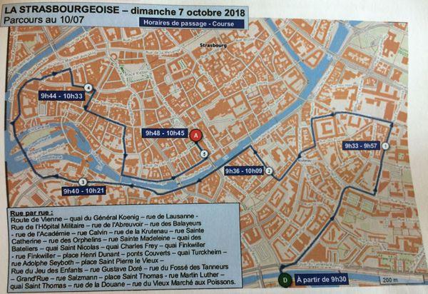 Parcours de la Strasbourgeoise, 9e édition