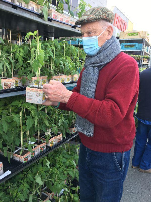 La douceur du printemps tant attendu fait revenir les passionnés de plantations, Francis le jardinier est un expert dans ce domaine