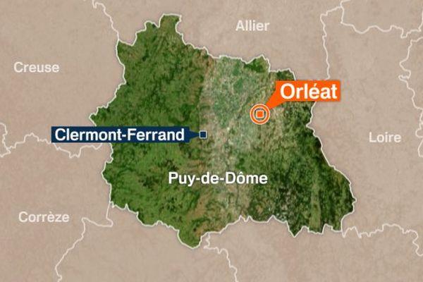 Les pompiers sont intervenus mardi vers 1 heure du matin sur un incendie à Orléat (63).