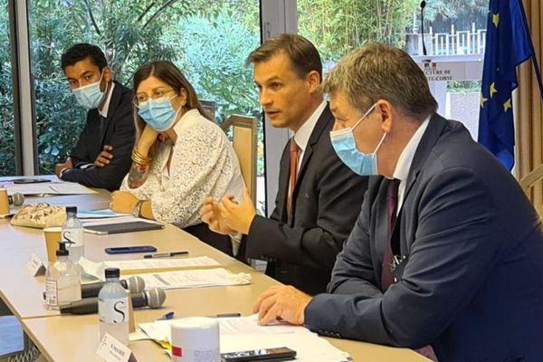Bastia, le 22/09/2020. Frédéric Potier, délégué interministériel à la lutte contre le racisme, l'antisémitisme et la haine anti-LGBT.