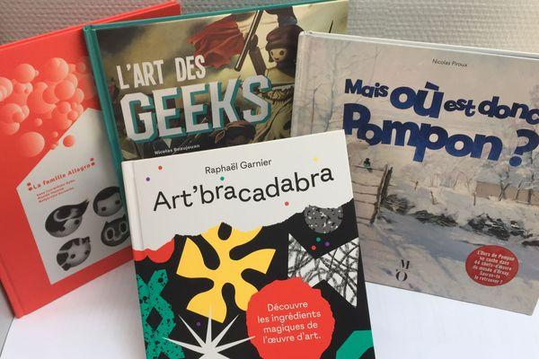 couverture de 4 livres d'art différents
