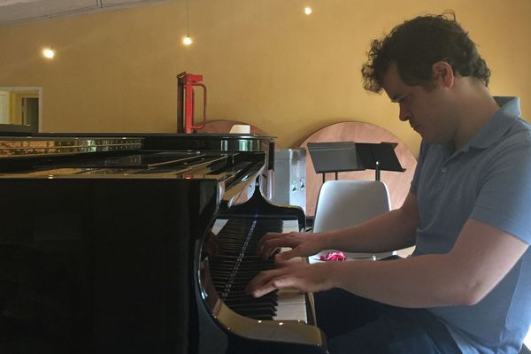 13/08/2019 - Le virtuose Benjamin Grosvenor répète son concert avant le festival international de piano à La Roque d'Anthéron (Bouches-du-Rhône).