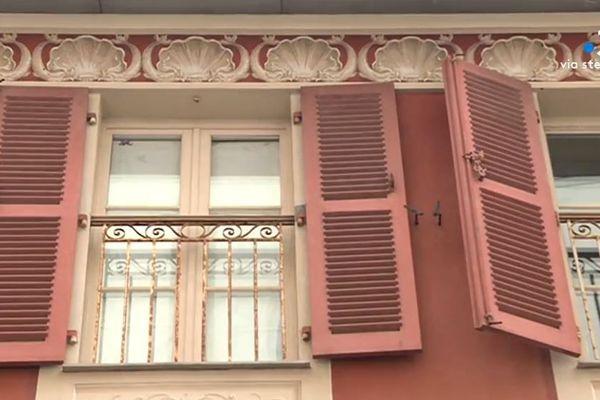 Façade peinte de la Villa Poggi, à Ajaccio.