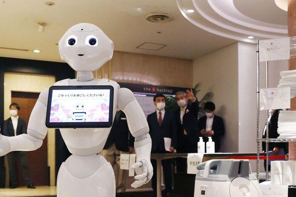 Le robot Pepper, capable de lire les émotions de ses interlocuteurs grâce aux algorithmes.
