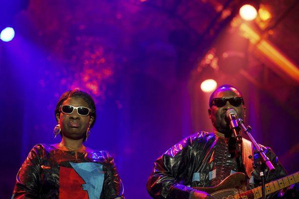 Les chanteurs Amadou et Mariam.