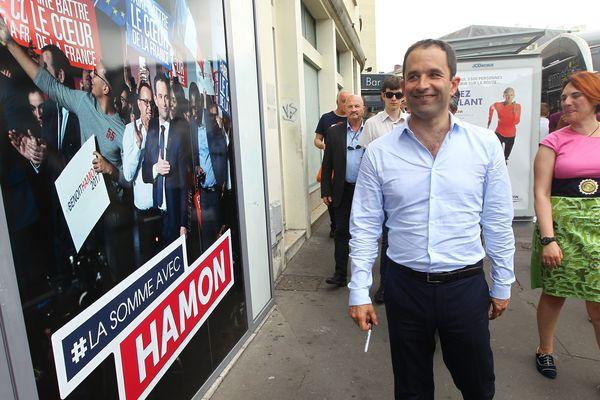 Benoît Hamon, l'ex-candidat du PS à la présidentielle, a été éliminé au soir du premier tour dans sa circonscription des Yvelines, à Trappes.