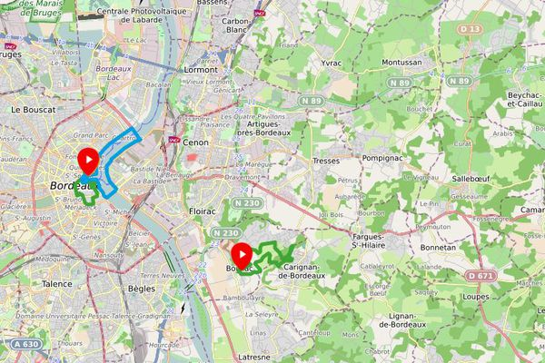 Bordeaux métropole a ouvert cinq parcours de marche nordique en juillet 2021.
