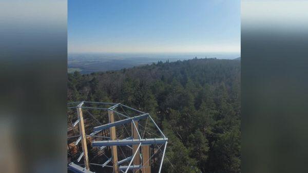Vue à 360 degrés à la ronde, sur la réserve de biosphère transfrontalière des Vosges du Nord-Pfälzerwald