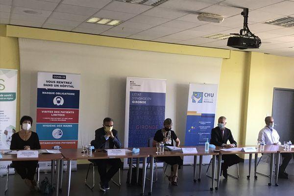 Une conférence de presse sur l'évolution de l'épidémie de Covid 19 en Gironde s'est tenue au CHU Pellegrin ce mercredi 9 septembre