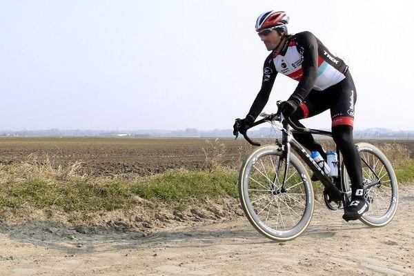 Fabian Cancellara, à l'entraînement ce jeudi.