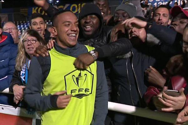 Les supporters du FC Chambly n'ont pas caché leur joie après cette victoire 3-0