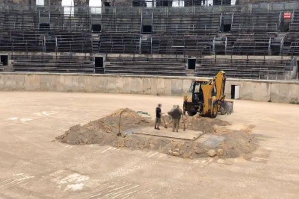 Nîmes - une nouvelle campagne de fouilles a débuté dans les arènes - Octobre 2019