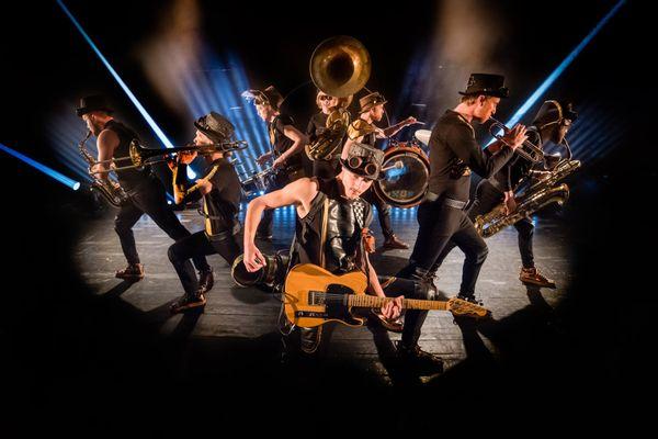 """Ooz Band, l'une des seize troupes qui prendra part au festival """"Rues et cies"""" du 11 au 13 juin 2021."""
