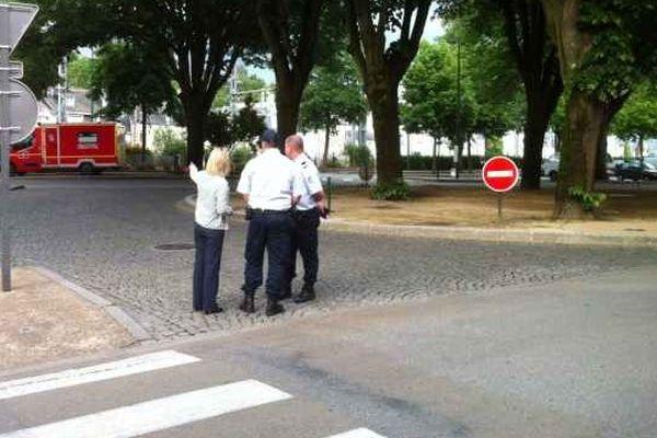 Les rues autour de la gare de Quimper évacuées par la Police