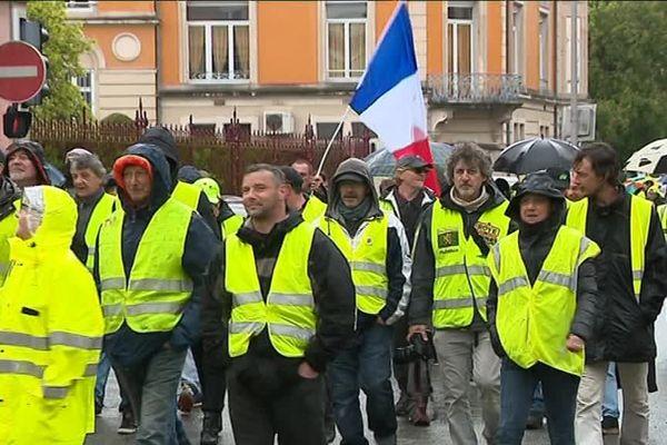 Les gilets jaunes dans les rues de Belfort ce samedi 27 avril 2019