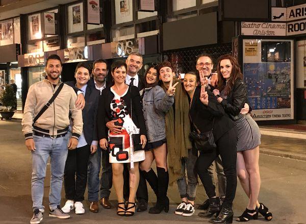 La famille et les amis d'Ambre étaient là pour la soutenir au SanremoJunior 2017