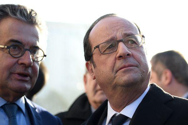 François Hollande était en déplacement à Poitiers le 26 janvier 2017.
