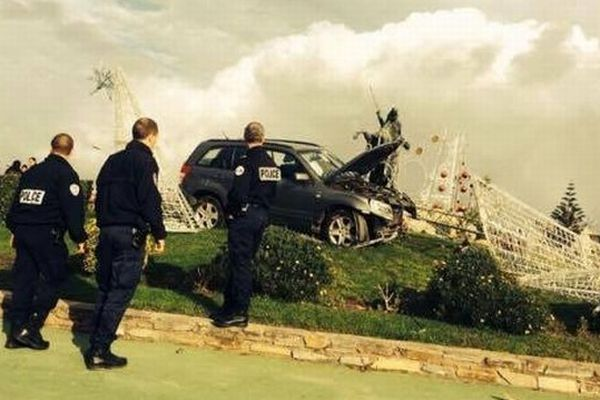 15/12/14 - Biguglia :spectaculaire accident de la circulation