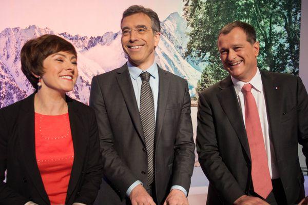 Carole Delga, Dominique Reynié et Louis Aliot, sur le plateau de France 3