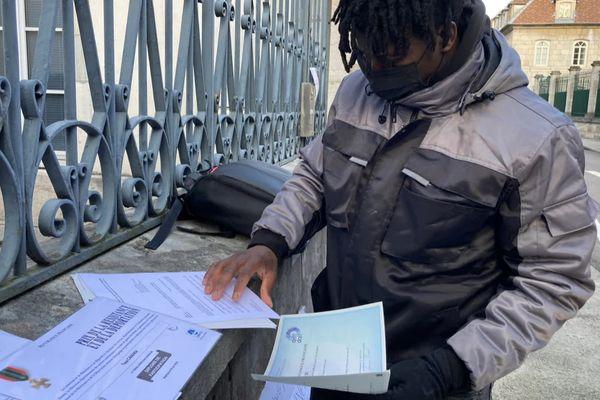 Yaya Camara devant le tribunal administratif de Besançon