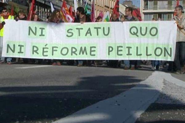 Manifestation dans le centre-ville de Cherbourg ce mercredi matin