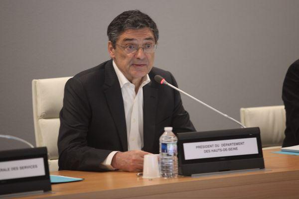 Une séance du conseil départemental des Hauts-de-Seine présidée par Patrick Devedjian en juin 2019.