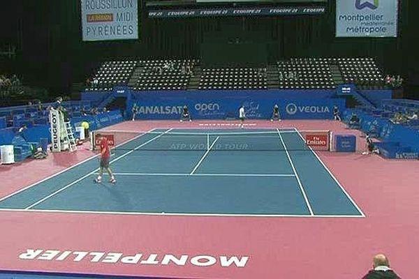 Montpellier - les qualifications débutent à l'Open Sud de France - 1 février 2016.